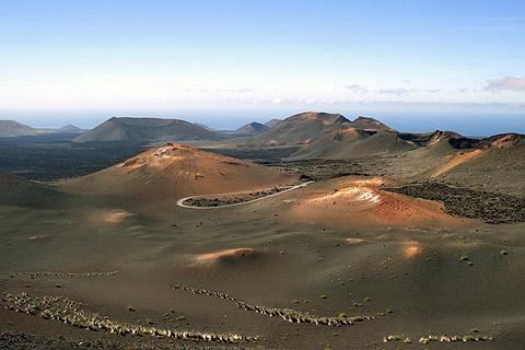 Timanfaya National Park in Lanzarote, Canary Islands