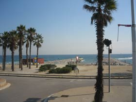Beach front in the Barceloneta area