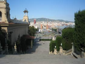 view from Palau Nacional, Montjuic