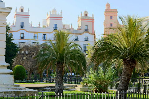 elegant buildings of Cadiz