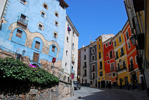 coloured houses of Cuenca