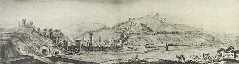 sketch of Daroca in 1668